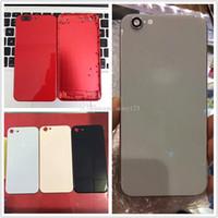 Para iPhone 6 6S 7 Plus trasera de la cubierta para iPhone 8 del estilo del metal vaso lleno Cubierta trasera roja con teclas laterales Como 8+