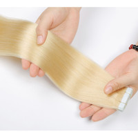 Cheap Russian Invisible adhesive tape hair extension Double ...