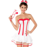 Sexy Nurse Costumes Set Women Teddy Lingerie Hot Erotic Game...