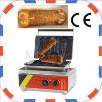 Frete Grátis Uso Comercial 110 v 220 v Waffle no Vara Pênis Waffle Maker Ferro Máquina Baker Molde