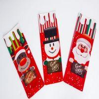 Mignon Creative Bouteille De Vin Couvre Santa Cadeau Sacs Santa Bonhomme De Neige Renne Noël Vin Vin Joyeux Noël Dîner Party Table Décorations
