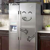 ISHOWTIENDA Cute Aufkleber Kühlschrank Happy Delicious Gesicht Küche  Kühlschrank Wandaufkleber Kunst Nette Smiley Wandaufkleber Kühlschrank
