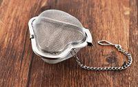 Nuova forma di cuore in acciaio inox 304 infusore tè Filtri Filtro tè della sfera libera il trasporto