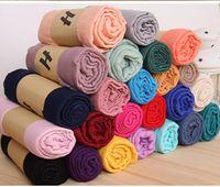 Fábrica Diretamente Sólida Envoltório do Xaile Das Mulheres Meninas Senhoras Cachecol Macio Cachecóis Recém-nascidos Aden Anais cobertores Swaddle 180 * 85 cm