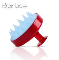Brainbow 1 unidades Champú Peine Dientes de Silicona Cabello Cabelludo Cepillo de Masaje Suave Lavado del Cabello Peine Corporal Masajeador de Baño Belleza Herramientas de Spa