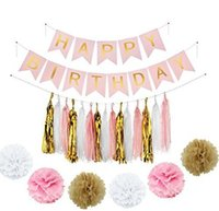 Wholesale Birthday Decorations Paper Flowers For Sale