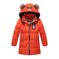 Toddler 80% White Duck Down Coat 4- 9 Yrs Children Winter Mid...