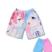 Re zero RAM REM SHORTS Kara Hajimeru isekai Seikatsu Sexy Underwears Homens Mulheres Adulto Underpants Anime Beach Shorts