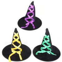 1PC Adulto Wicked Witch Hat Halloween Cap Costume Accessorio Costumi di Halloween Decorazione per feste -35