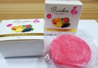 새로운 도착 뜨거운 Bumebime Handwork 비누는 과일과 함께 필수 천연 마스크 흰색 밝은 오일 비누 무료 shiping
