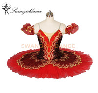 Yetişkin Don Kişot kadın kızlar siyah kırmızı tutu rekabet klasik profesyonel tutu, sahne performansı balerin bale kostüm BT8943D