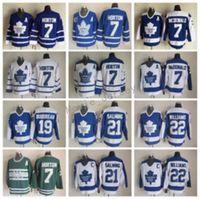 Toronto Maple Leafs Джетки мужчины Винтаж Хоккей 22 Tiger Williams 21 Borje Salming 19 Bruce Boudreau 7 Тима Horton 7 Lanny McDonald