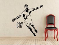 Removable Wallpaper Cristiano Ronaldo Football wall Sticker ...