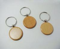 Venta al por mayor-50pcs-Blank-Rectangle-Wooden-Key-Chain-DIY-Promotion-Customized-Key-Tags-Promotional-Gift