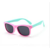 TR90 مرنة الأطفال يستقطب نظارات شمسية الأطفال بأمان طلاء نظارات شمس uv400 نظارات السيليكا ظلال نظارات الشمس