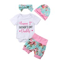 4PCS Pudcoco Brand Happy 1st Father' s Outfits Newborn B...