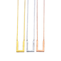 Colares pingente Moda U Lindo desenho na superfície dos colares em forma de U Geometria estilo simples pingente colares