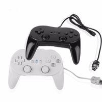 New Black White Wired Classic Controller Pro Joypad Gamepad per Wii U Wii Remote di alta qualità VELOCE VELOCE