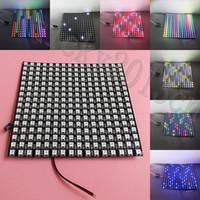 5V WS2812B 5050 RGB LED 256 픽셀 유연 패널 라이트 디지털 디스플레이 화면에 대 한 16CM x 16cm 개별 주소 지정 가능한 프로그래밍 가능 매트릭스 16cm x 16cm