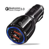 شاحن سيارة 5V الإضافية 3.1a الشحن السريع المزدوج USB شحن سريع للفون إكسس ماكس 7 8Plus لسامسونج FOR XIAOMI
