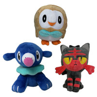 Hot Sale 3pcs Lot 17- 20CM Popplio Rowlet Litten Pikachu Push...