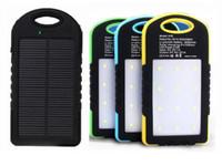 Neue Universal 8000 mAh Solar Ladegerät Solar Power Bank Wasserdichte Solar Panel Batterie Ladegeräte für Dual USB LED Camping lampe LLFA