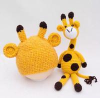 Nouveau-né bébé fille garçon photographie Prop Photo Crochet Knit Costume Deer + Hat Set