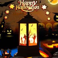 Zucche di Halloween / Strega / Mano fantasma / Scheletro Luci a LED Lampada a fiamma artificiale Piccola lampada a olio Forniture per feste a LED Decorazioni di Halloween