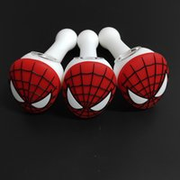 Hot Spiderman Hand pipe Oil Burner Tubi portatili Smoking Pipes infrangibile Silicone Cucchiaio pipe Accessori per fumatori