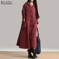 2017 Spring ZANZEA Women Casual Loose Mid- calf Dress Ladies ...