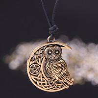 2021 Dawapara Gold Farbe Verstellbare Göttin Halbmond Anhänger Halskette Wicca Pentagramm Pagan Amulett Talisman Weihnachtsgeschenk