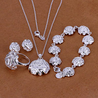 KASANIER Sales Women Fashion 925 Silver Jewelry Ring Set Ros...