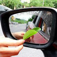 2 ADET Araba Dikiz Aynası Koruyucu Film Anti Sis Pencere Temizle Yağmur Geçirmez Dikiz Aynası Koruyucu Yumuşak Film Oto Aksesuarları Perakende