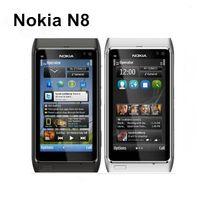 Orijinal Yenilenmiş Nokia N8 Kilitli Tek Çekirdekli 16GB 3.5 İnç 12.1MP 3G WCDMA cep telefonu