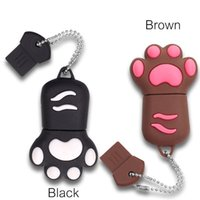 32G 64GB Cat Paw Shape USB 2.0 Flash Drive Novità Pendrive Memory Stick Memorizzazione dati Cute Animal Thumb Drive U Disco regalo