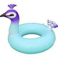 Desenhos animados Projeto Pavão Tubos Infláveis Enormes Belas Aves Anel De Natação Criativo Espessado Piscina Flutuante Mat Para Jogar A Água Da Praia 30xr2 Z