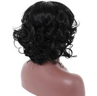 Парик Роуз чистая Европейский и американский взрыв модели женская мода большой волосистой части головы волосы парик женский короткие вьющиеся волосы парик синтетические парики секс-игрушки