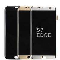 """Оригинальный 5.5 """" супер AMOLED дисплей для SAMSUNG Galaxy S7 edge G935 G935F SM-G935F ЖК-дигитайзер Ассамблеи замена"""