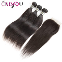 Silk Peruvian Straight Lace Closure Straight Peruvian Virgin...