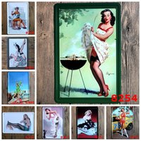 Sexy Grils Wall Decor Vintage Metal Signs Bar Poster Home De...