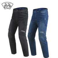 2018 SSPEC Black Motorcycle Jeans Men Women Motorcycle Pants...