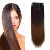 Sara Clip in on Straight Hair Extension for Lady Woman 60CM ...