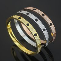 316L Titanium Steel carter Love Bracelets silver rose gold B...