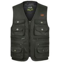 Men Large Size S- 4XL Motorcycle Casual Vest Male Multi- Pocke...