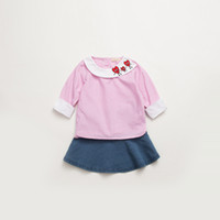 2pcs girl children' s wear skirt suit spring new cartoon...