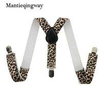Szelki Mantieqingway dla Moda Dziecko Dziecko Dzieci 3 Clip-On Leopard Koszula Gruzy dla Boygirl Elastyczne szelki dla dzieci