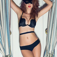 Vor Deep U Sexy Dessous Backless BH Ultra-Low-Cut Unterwäsche Büstenhalter Push-Up-BHs für Frauen Vs Marke Dessous Bralette New
