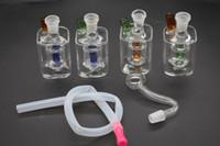 Großhandel billig Mini Glas Ölbrenner Wasser Bong für tupfen Rigs Bongs Ash Catcher Shisha Pipe Rauchen Ölplattform Rohr mit Silikonschlauch