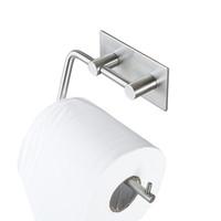 스테인레스 스틸 304 튼튼한 현대 스타일 벽에 장착 스티커 부엌 화장실 화장지 홀더 롤 홀더