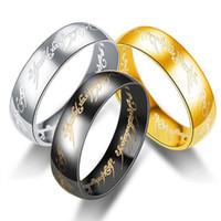 20 Pieces / lot Color Mix Boho inoxidável Vintage Aço Senhor dos Anéis para as Mulheres Homens Moda Anéis Jóias Atacado